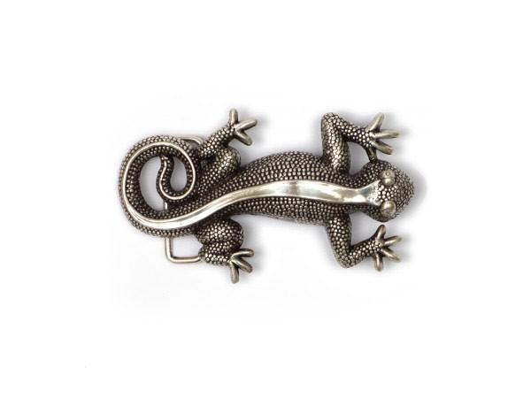 """Koppelschließe """"Salamander"""" silber KS1261"""