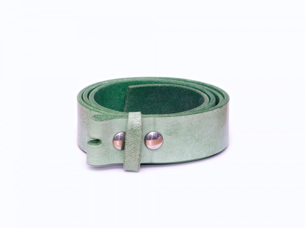 Wechselgürtel 4cm Glattleder hellgrün